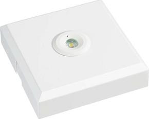 ESYLUX LED-Notleuchte 3h ELH O LED SC SM weiß