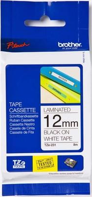 Brother Schriftbandkassette BF.weiß/DF.schwarz TZe-S231