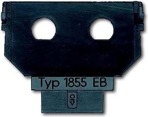 Busch-Jaeger Sockel für 1758... f. 2xBNC/TNC Buchse 1855 EB