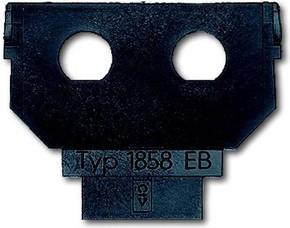 Busch-Jaeger Sockel für 1758... f. 2xBNC EB-Buchse 1858 EB