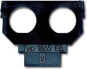 Busch-Jaeger Sockel für 1758... f. 2xTwinax-EB-Bu. 1865 EB