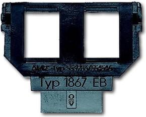 Busch-Jaeger Sockel für 1758... f. Mod.-Jack 2x6u.8p 1867 EB