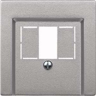 Merten Zentralplatte aluminium für TAE-Dose 297960