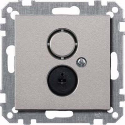 Merten Steckdosen-Einsatz aluminium Lautsprecher 297460