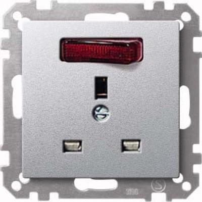 Merten Steckdosen-Einsatz aluminium British-Standard 202360