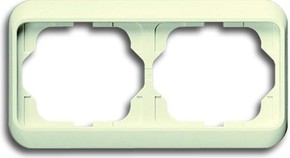 Busch-Jaeger Rahmen 2-fach elf/ws, waager.alpha 1722-22G