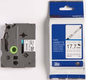 Brother Schrumpfschlauchkassette 17,7mm BL 1,5m weiß/sw HSe-241