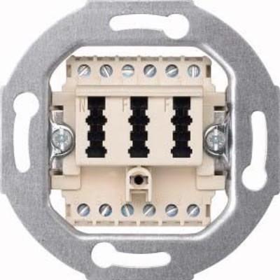Merten TAE-Anschlussdose 3-fach ws 2x6/6NF/F 465226