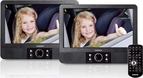 Lenco DVD-Player Set portable 22,5cmTFT-Bildschirm MES-405