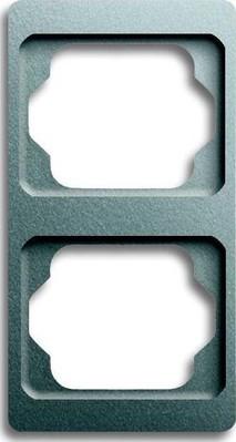 Busch-Jaeger Rahmen 2-fach titan, senkr., alpha 1732 KA-266