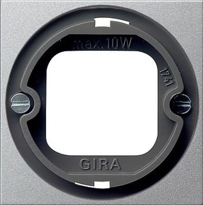 Gira Abdeckung Lichtsig. aluminium Bajonett, System 065926