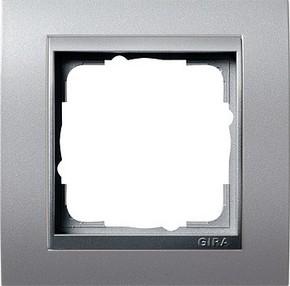 Gira Abdeckrahmen 1-fach aluminium m.alu.ZL, Event 021136