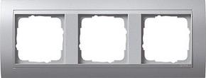 Gira Abdeckrahmen 3-fach aluminium m.alu.ZL, Event 021336