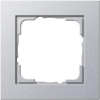 Gira Abdeckrahmen 1-fach aluminium bruchsicher 021125