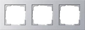 Gira Abdeckrahmen 3-fach aluminium E2 021325