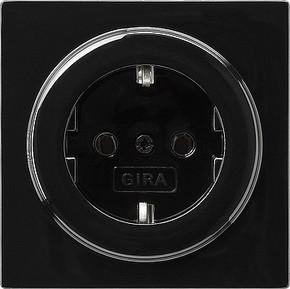 Gira Schuko-Steckdose schwarz S-Color 018847