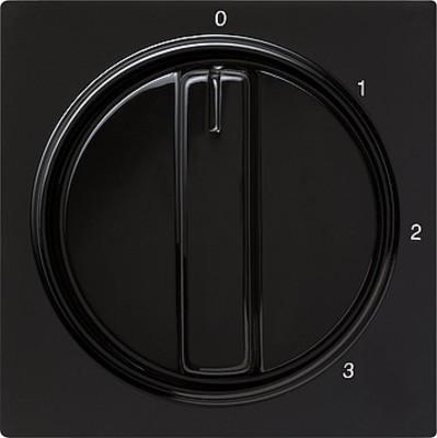Gira Abdeckung m.Knebel schwarz 3-Stufen, S-Color 066947