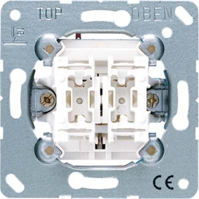 Jung Jalousie-Wippschalter 10AX 250V Sch.1-pol. 509 VU