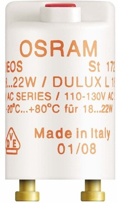 OSRAM LAMPE Starter f.Reihenschaltung 18-22W 230V ST 172 25er