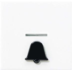 Jung Wippe Symbol KLINGEL alpinweiß für beleuchtb.Taster A 590 K1KO WW