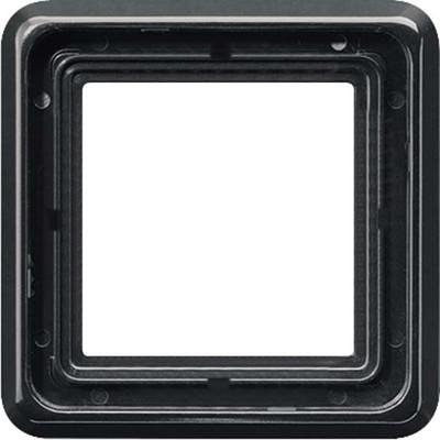 Jung Rahmen 1-fach schwarz waage/senkrecht CD 581 SW