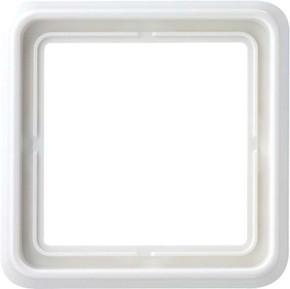 Jung Rahmen 1-fach alpinweiß waage/senkrecht CD 581 WW