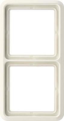 Jung Rahmen 2-fach weiß waage/senkrecht CD 582 W