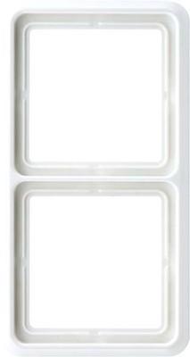 Jung Rahmen 2-fach lichtgrau waage/senkrecht CD 582 LG