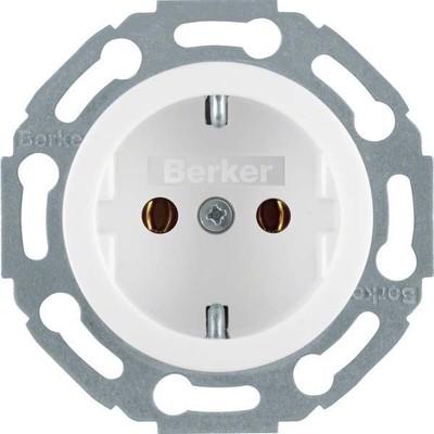 Berker Steckdose polarweiß glänzend 1-fach 414520