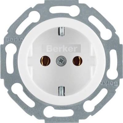 Berker Schuko-Steckdose polarweiß glänzend 1-fach 474520