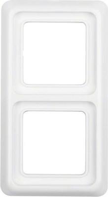 Berker Rahmen 2-fach polarweiß/ glänzend mit Dichtung,IP44 132909