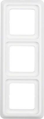 Berker Rahmen 3-fach polarweiß/glänzend mit Dichtung IP44 133009