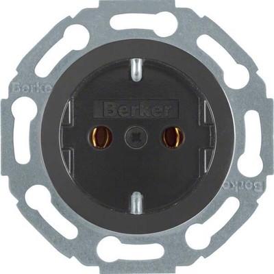 Berker Steckdose sw/gl 1-fach 474521