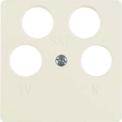 Berker Zentralplatte weiß f.4Loch Antennendose 148402