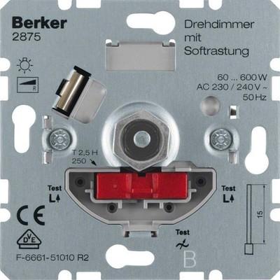 Berker Drehdimmer 60-600W mit Softrastung 2875
