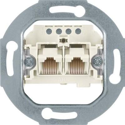 Berker UAE-Anschlußdose 2 x 8(4)-polig, weiß 4562