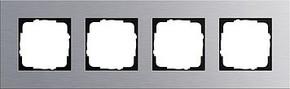 Gira Abdeckrahmen 4-fach aluminium Esprit 021417