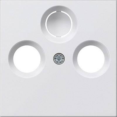 Gira Zentralplatte reinweiß-glänzend für Koax-Steckdose 086903