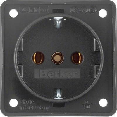 Berker Schuko-Steckd.anth m.Schraubklemmen 941852505