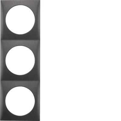 Berker Rahmen 3-fach anth matt 918192515