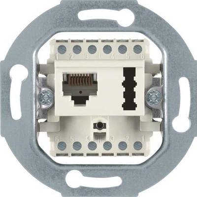 Berker UAE 8(6)-Anschlußdose weiß 458802