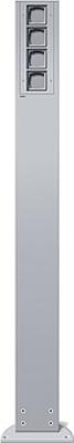 Gira Energiesäule aluminium 4xLeereinheit,1400mm 135426