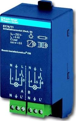 Busch-Jaeger Schaltaktormodul 2-fach 6174/11