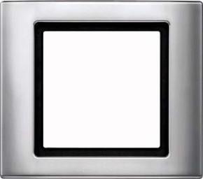 Merten Rahmen 1-fach aluminium 400160