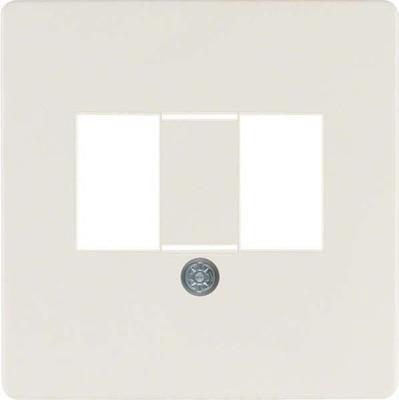 Berker Zentralplatte weiß f.TAE-Anschlussdose 145802
