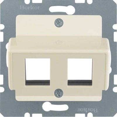 Berker Zentralplatte weiß f.Krone Modular-Jack 146402