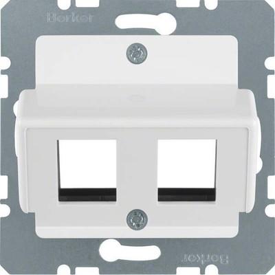 Berker Zentralplatte pws f.Krone Modular-Jack 146409