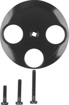 Berker Zentralstück schwarz f.3Loch Antennendose 106421