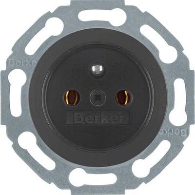 Berker Steckdose schwarz mit Zentralstück 67657901