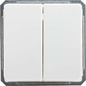 Elso Doppelwechselschalter rw mit Wippe 211664